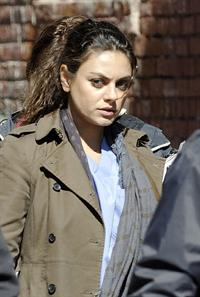 Mila Kunis on the set of The Angriest Man In Brooklyn in Hollywood (February 20, 2013)