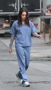 Mila Kunis on the set of ''The Angriest Man in Brooklyn'' October 4, 2012