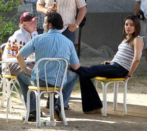 Mila Kunis - Booty in tight jeans on the set of  Blood Ties  in New York City (May 29, 2012)