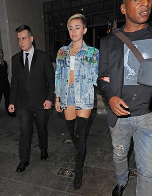 Miley Cyrus in London 9/11/13