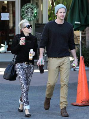 Miley Cyrus at Starbucks in Toluca Lake 12/22/12