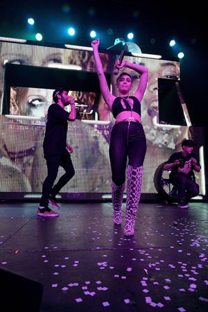 Miley Cyrus Borgore's Christmas Creampies Concert in Hollywood 12/8/12