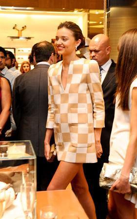 Miranda Kerr Louis Vuitton store opening in Cancun 1/25/13