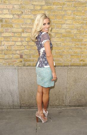 Mollie King London fashion week on February 20, 2012