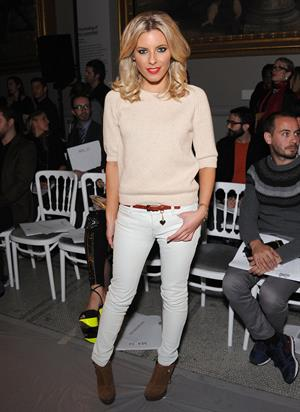 Mollie King London College of Fashion MA Graduate Designers Catwalk Show on February 2, 2012