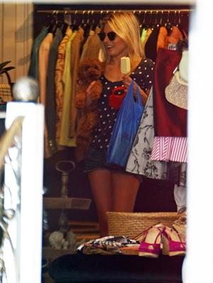 Mollie King London candids April 23, 2011