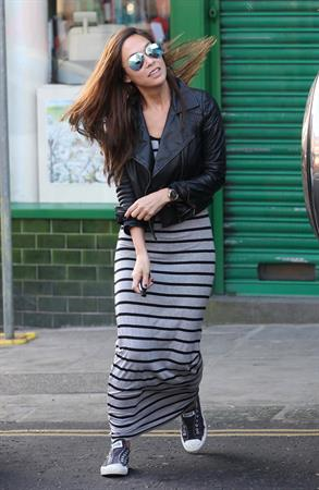 Myleene Klass out and about in London on March 5, 2013