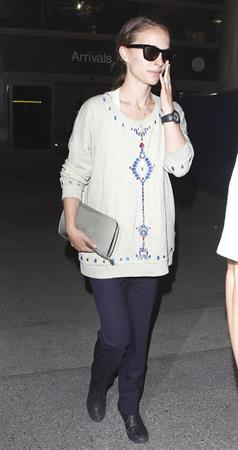 Natalie Portman arrives at LAX Airport - May 30, 2013