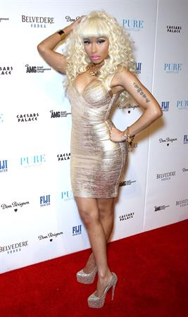 Nicki Minaj arrives to New Year's Eve At Pure Nightclub in Las Vegas, Nevada on December 31, 2012