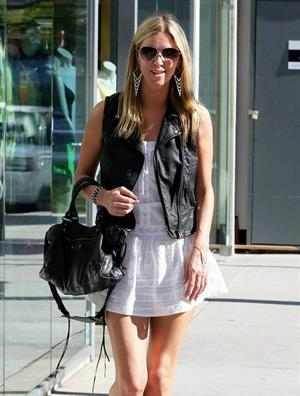 Nicky Hilton in a short white dress while shopping in Beverly Hills March 1, 2013
