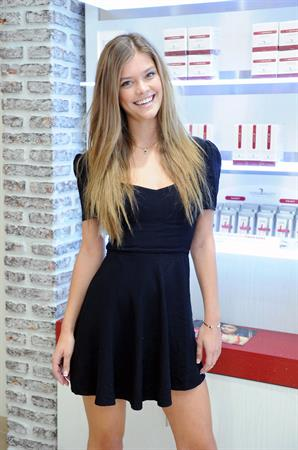 Nina Agdal at European Wax Center for The Natural Brow Powder launch in New York - August 14, 2013