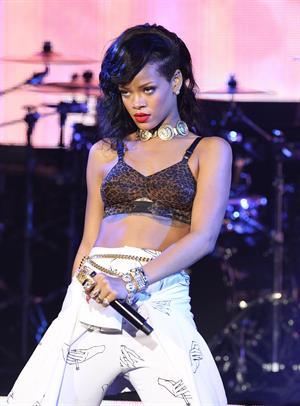 Rihanna Performing during 777 Tour in London, England (November 19, 2012)