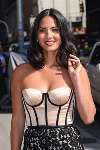 Olivia Munn Arrives to 'Late Show with David Letterman', August 27, 2013