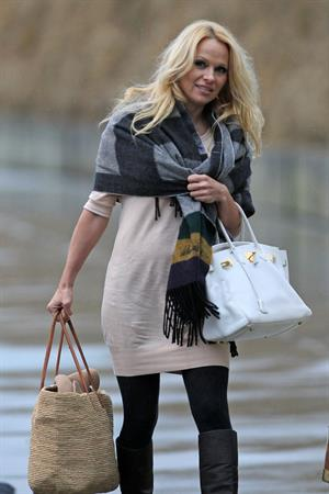 Pamela Anderson in Vancouver on January 29, 2013