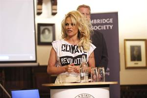 Pamela Anderson at the Cambridge Union, Britain March 5, 2013