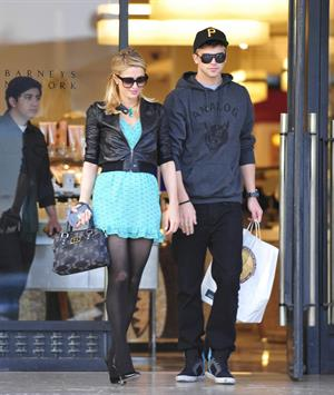 Paris Hilton and River Viiperi at Barneys doing some shopping in Beverly Hills