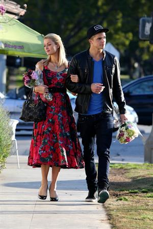 Paris Hilton and River Viiperi get in the mood for Valentine's Day with a romantic shopping trip in LA 2/11/13