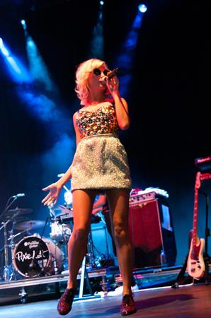 Pixie Lott performs at the V Festival at Hylands Park in Chelmsford - on August 18, 2012