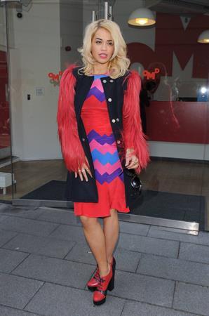 Rita Ora Leaving OMD Advertising Agency in London, England (November 5, 2012)