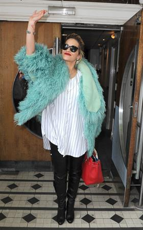 Rita Ora - Arriving to BBC Maida Vale Studios in London August 10, 2012