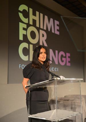 Salma Hayek - Chime for Change launch 2/28/13