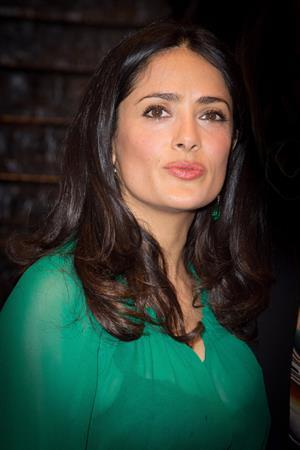 Salma Hayek Les P'tits Cracks Charity Dinner Pavillon des Champs Elysees in Paris April 25, 2013