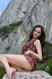 Annika A nude in the mountains for FemJoy -  Nice View