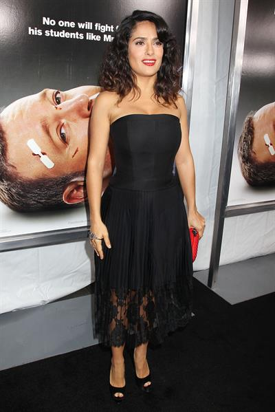Salma Hayek - At AMC Loews Lincoln Square October 9, 2012