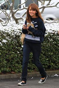 Samia Ghadie Leaving hotel in Borehamwood, January 14, 2013