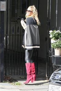 Sarah Harding out and about near her London home October 4, 2012