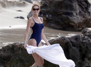 Stephanie Seymour on the beach in St. Barts 12/28/12