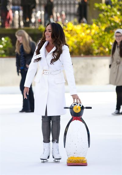 Tamara Ecclestone Opens the Natural History Museum ice rink in London - November 7, 2012