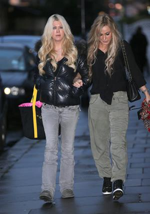 Tara Reid was seen at Tatiana Hair Extensions in Kensington, December 21, 2012