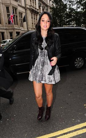 Tulisa Contostavlos outside BBC Radio One in London October 3, 2012