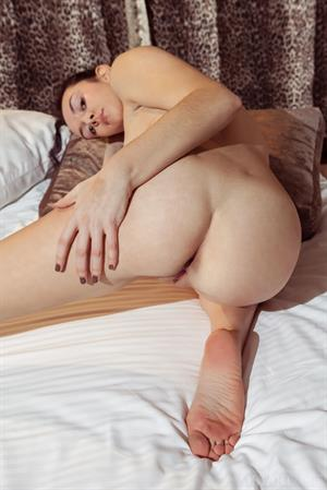 Sexy Anatali nude on her bed