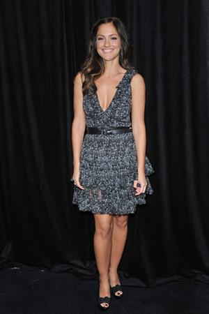 Minka Kelly Instyles 9th annual awards season Diamond Fashion Show preview at the Beverly Hills Hotel on January 14, 2010