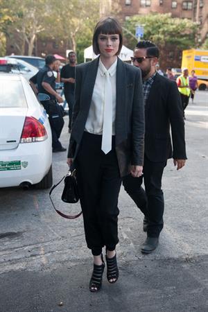 Coco Rocha @ NYC fashion week September 4, 2014
