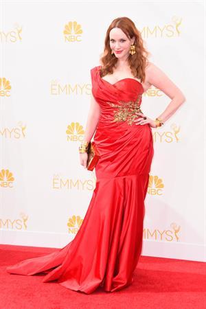 Christina Hendricks at the 66th annual Primetime Emmy Awards, August 25, 2014