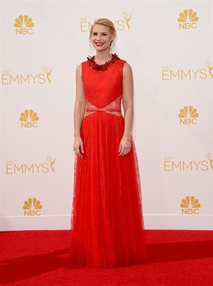 Claire Danes at the 66th annual Primetime Emmy Awards, August 25, 2014
