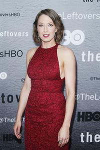 Carrie Coon attends 'The Leftovers' premiere at NYU Skirball Center on June 23, 2014 in New York City