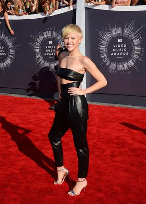 Miley Cyrus at the MTV Video Music Awards Aug. 24, 2014