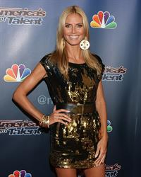Heidi Klum at the America's Got Talent season 9 post show red carpet event.  August 20, 2014