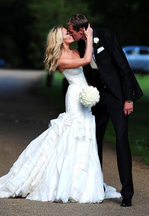 Abigail Clancy wedding day June 30, 2011