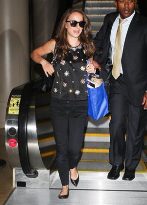 Natalie Portman Arriving on a flight at LAX airport - September 19, 2012