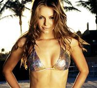 Jennifer Hawkins in a bikini