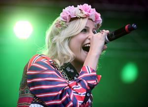 Pixie Lott performs at the Cornbury Music Festival at Great Tew Estate on June 29, 2012 in Oxford, England