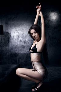 Crystal Wang Xi Ran in lingerie