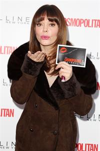 Rose McGowan Collect Kisses For The Troops Event New York 12.11.12