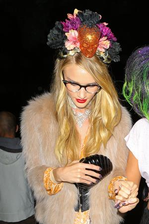 Rosie Huntington-Whiteley - At A Halloween Party In Beverly Hills October 26, 2012