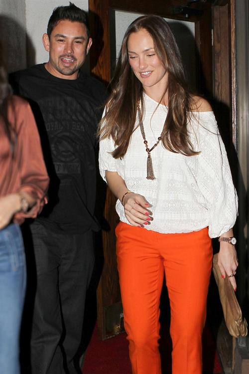 Minka Kelly Leaving Madeo Restaurant Los Angeles On March 24, 2012  Hotness Rating -4039